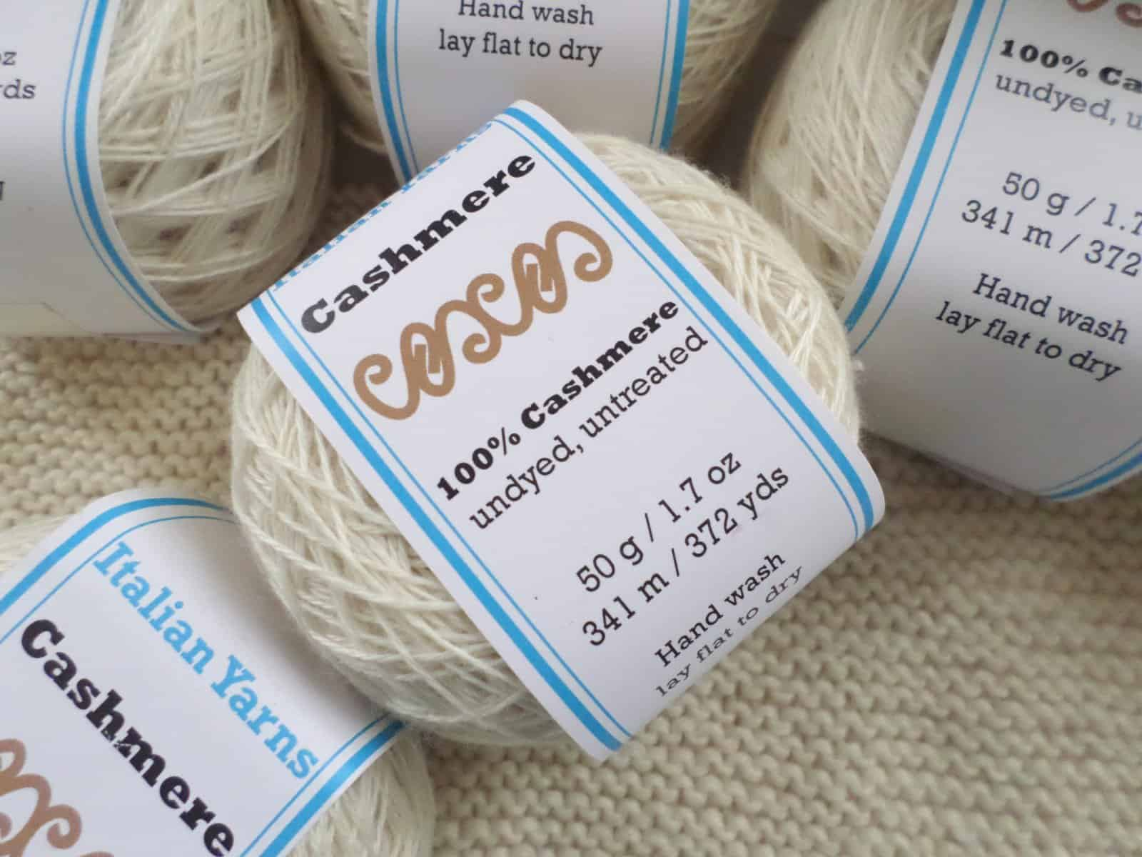 Undyed Untreated 100% Cashmere