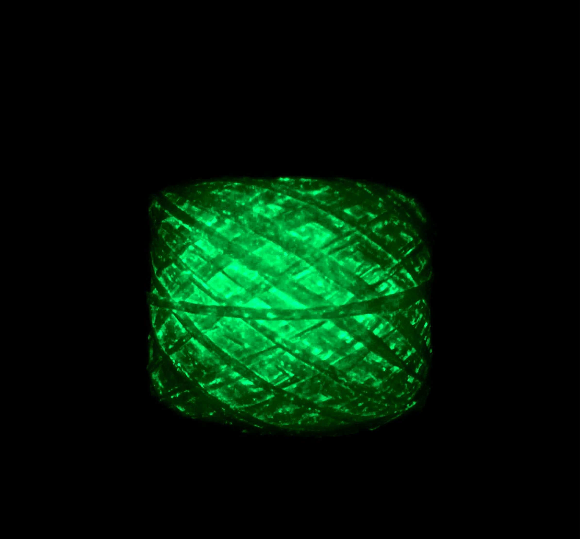 Glow-in-the-dark Blue Phosphorescent Yarn
