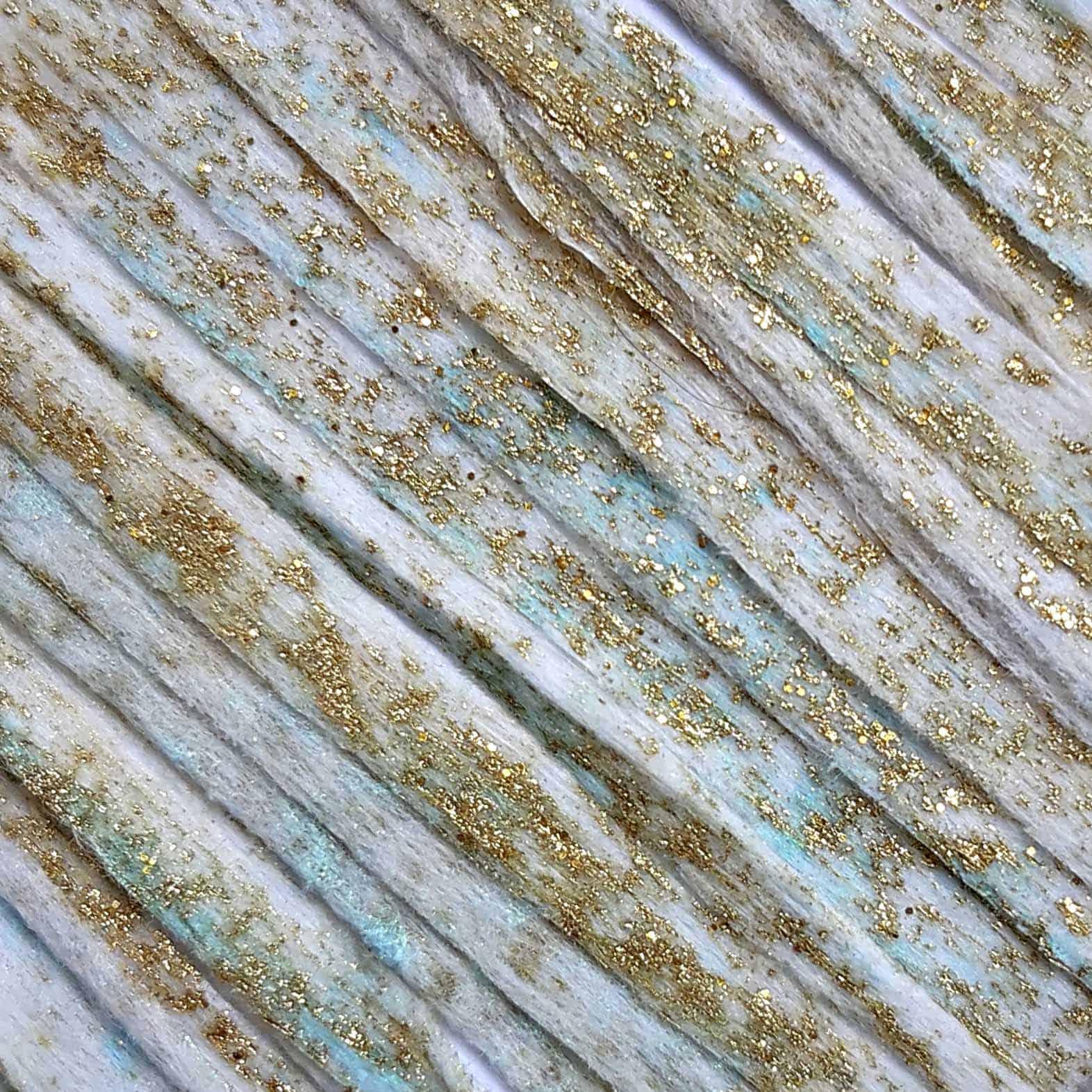 Gold and Green Rayon Yarn