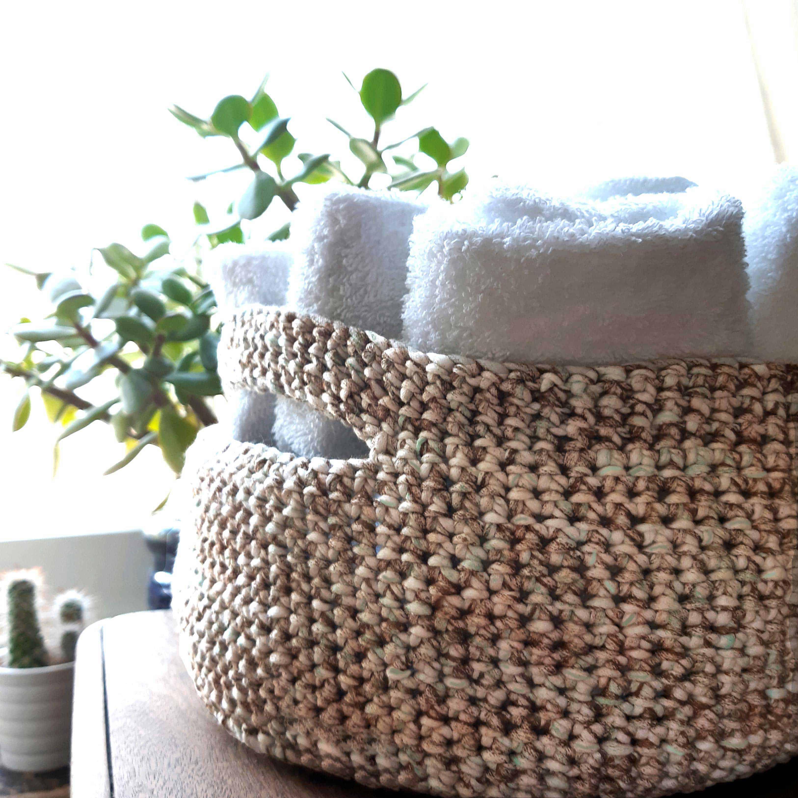 Granite Crochet Basket