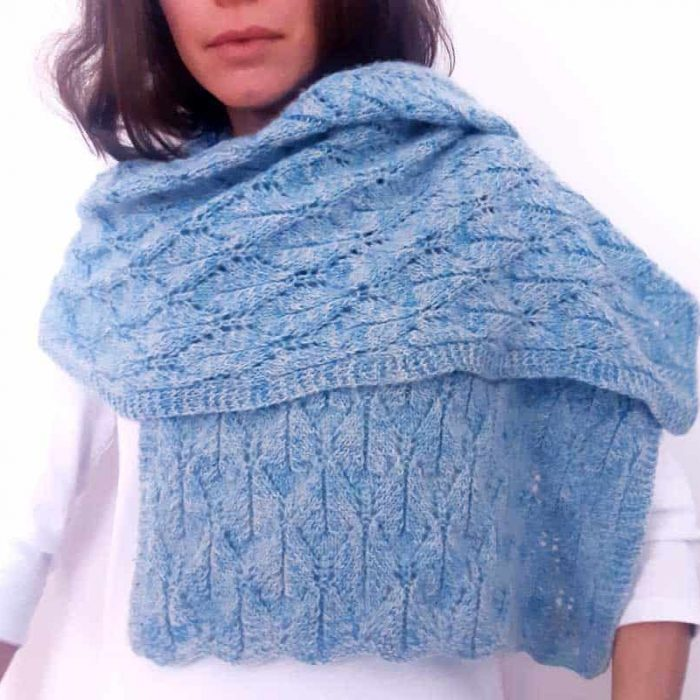 Leaves-Me-Not Shawl Knitting Pattern