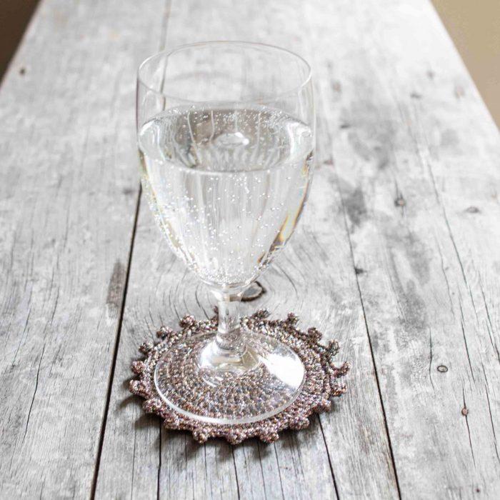 Shimmering Table Coaster – Crochet Pattern